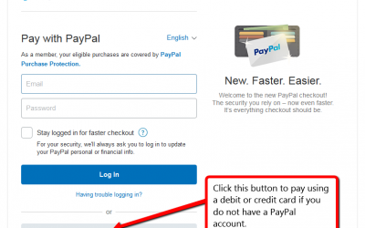 Credit card pay option enabled…